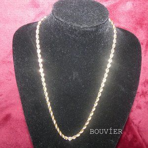 18K Solid Gold 5mm Rope Chain